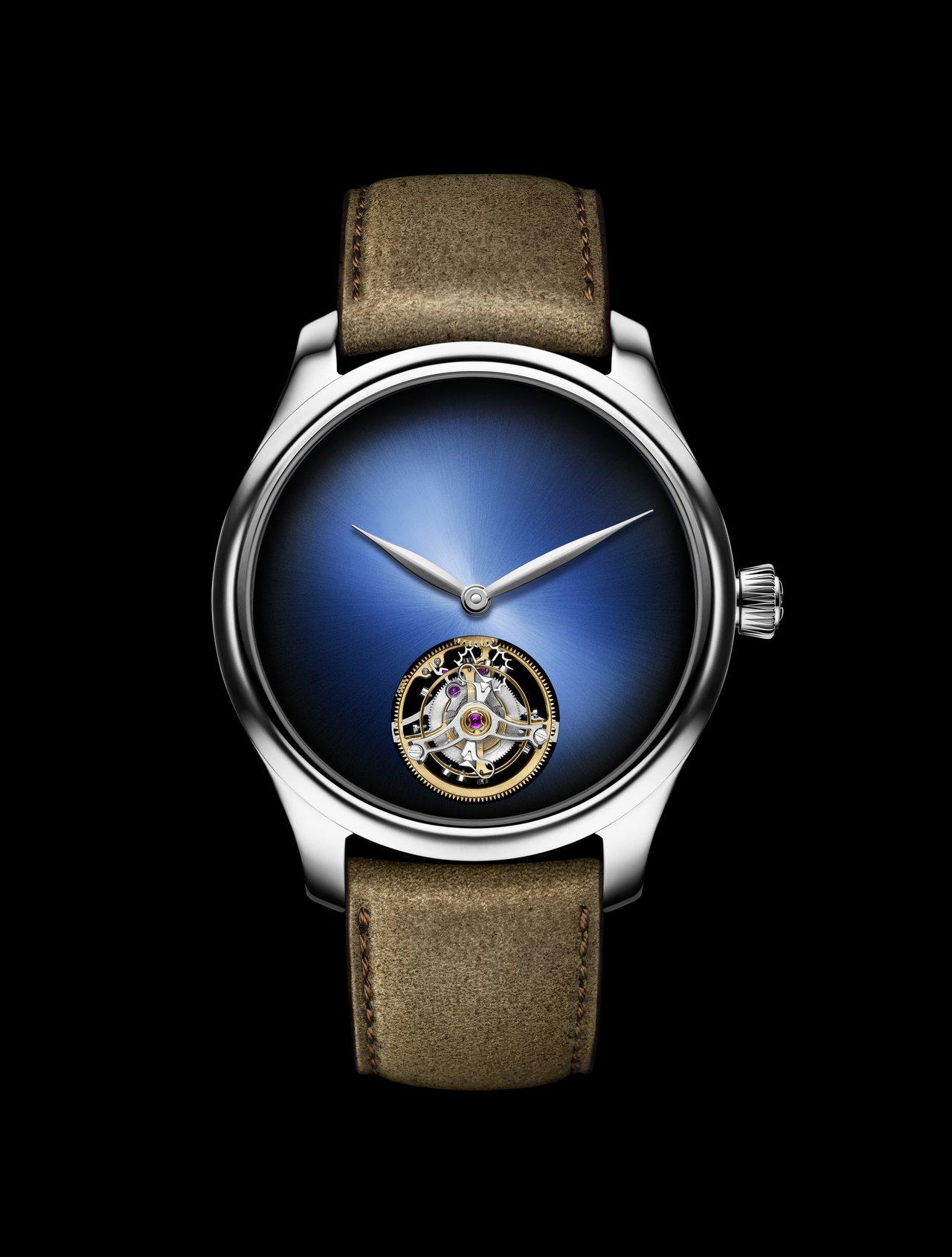 亨利慕時勇創者陀飛輪概念腕表,18K白金表殼,搭載原創雙層游絲HMC 804自製...