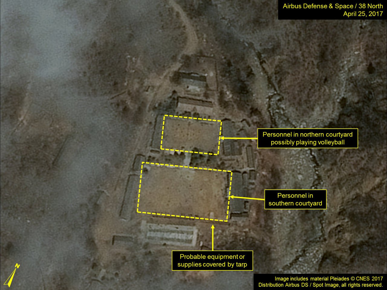 北韓豐溪里核試場衛星圖。路透