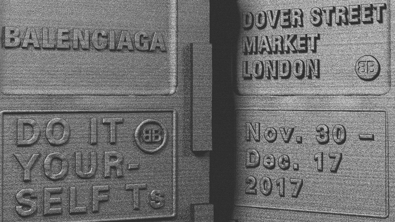 Balenciaga將在11月30日至12月17日於倫敦Dover Street...