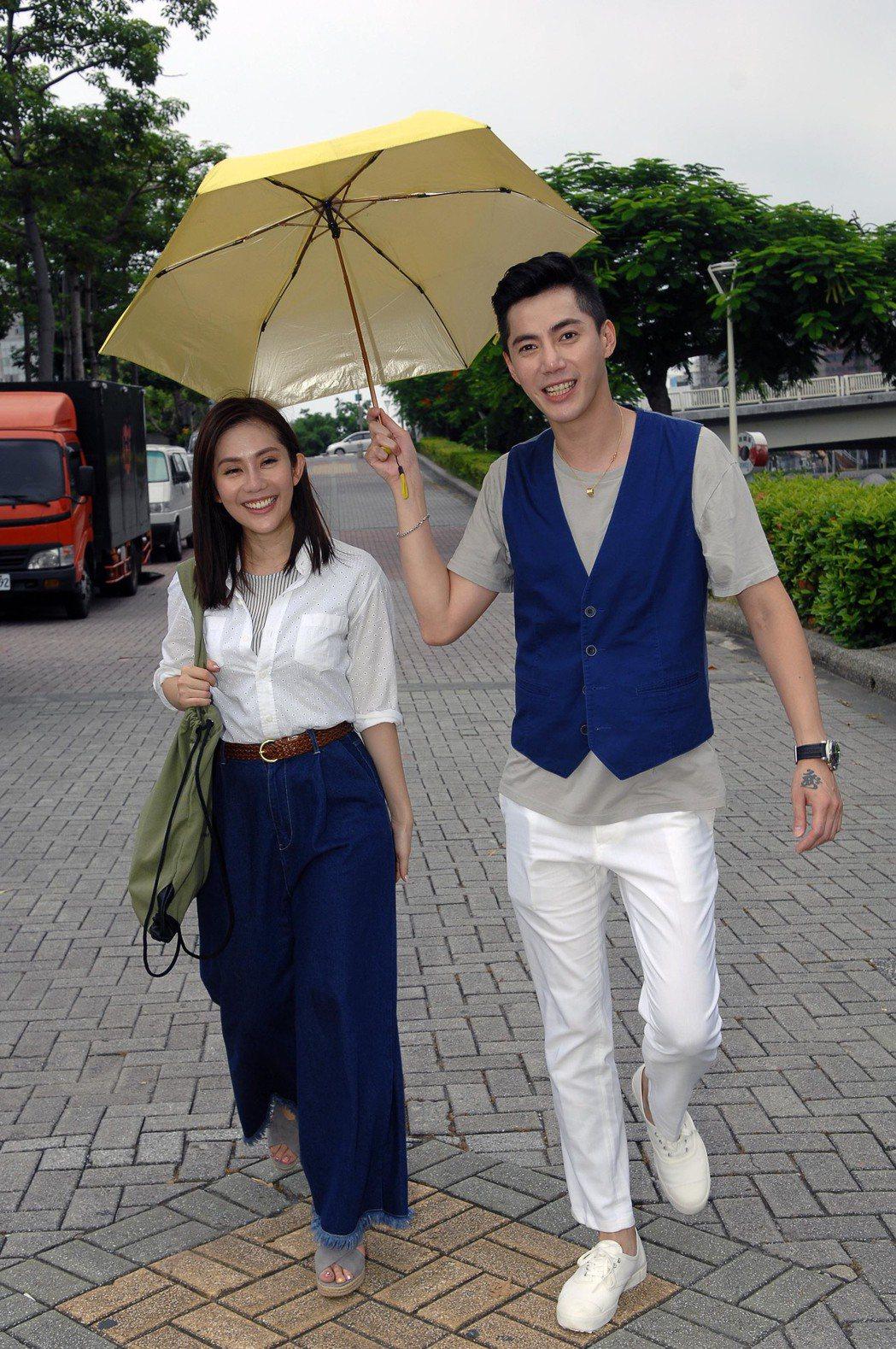 王凱演出「春風愛河邊」戲中愛慕王宇婕。圖/華視提供