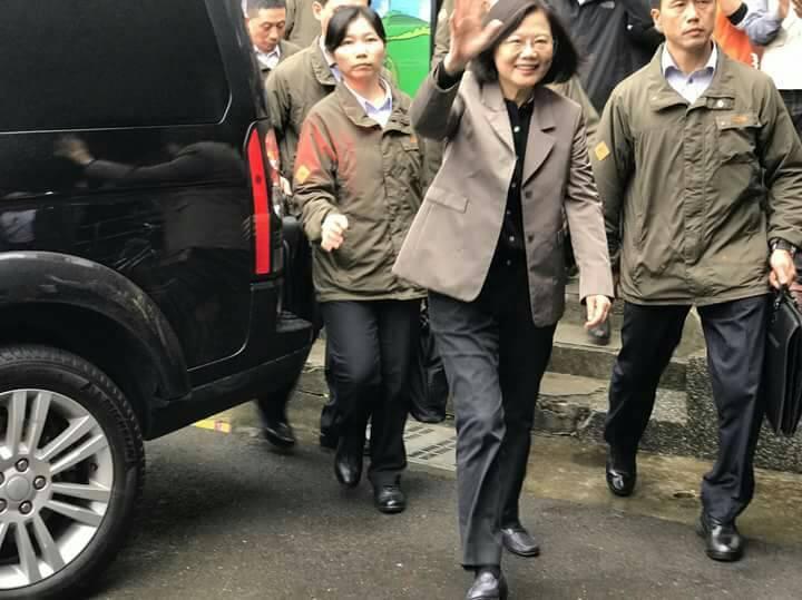 未公開行程,總統蔡英文今天下午由黨中央安排,低調拜訪宜蘭。 圖/陳文昌提供