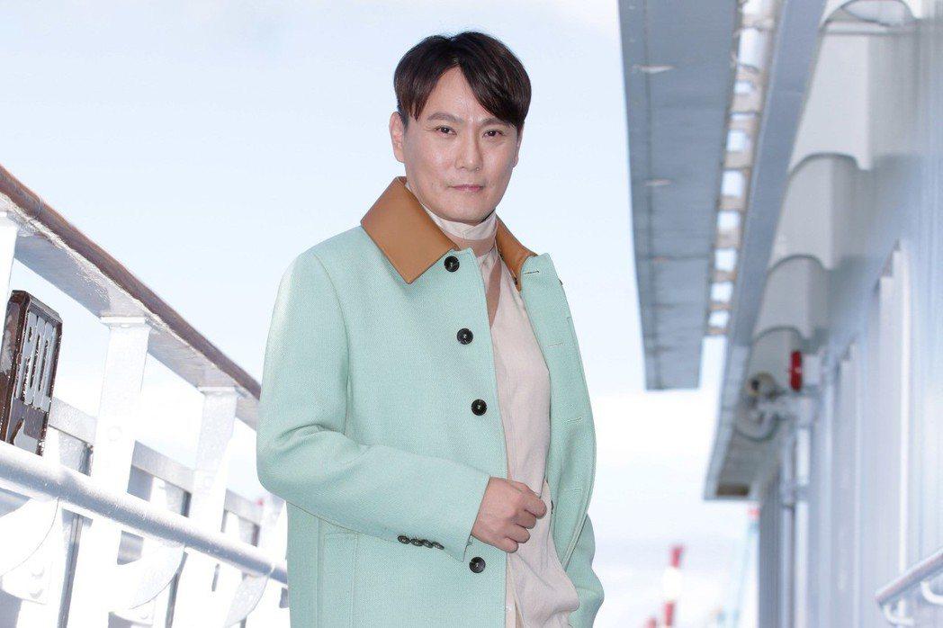張信哲在郵輪上發表新專輯「擁恆」。記者陳瑞源/攝影