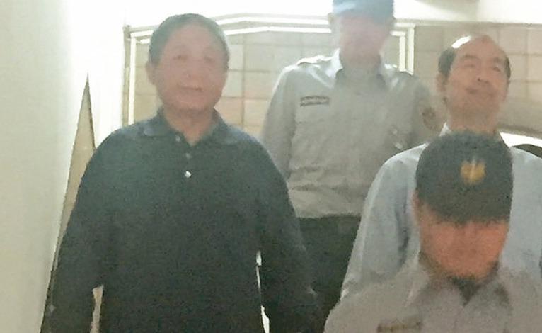 共諜案主謀鎮小江(左)假釋未過關,台北監獄表示要等3個月後再提報。 聯合報系資料...