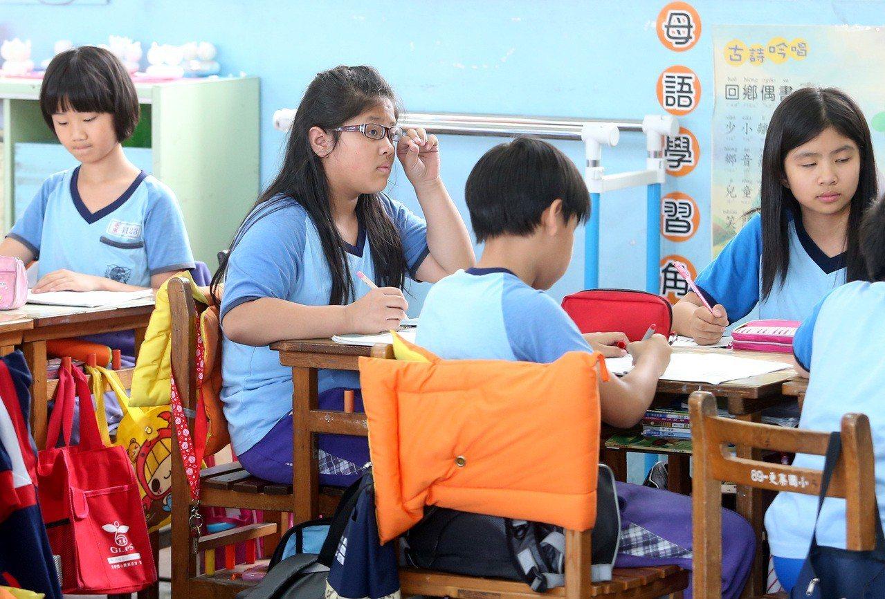 非文中當事人。圖為國小生。本報資料照/記者潘俊宏攝影