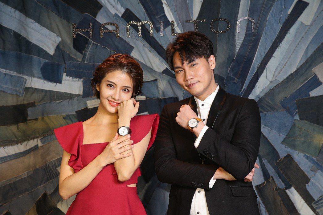 李宣榕與周定緯擔任品牌大使,上演美聲PK賽。 業者/提供。
