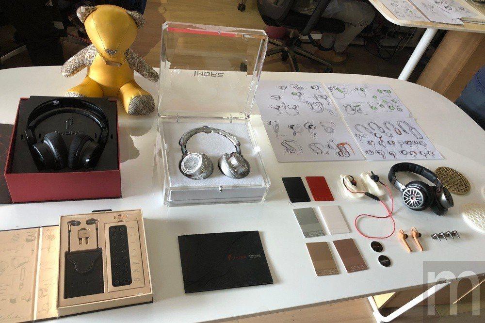 各款耳機從設計草圖、3D列印試做樣品,以及後期針對特定客戶客製化版本設計