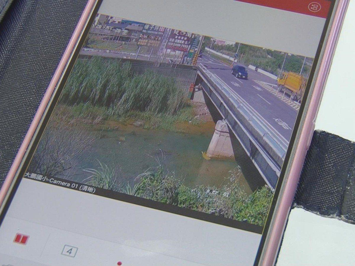 萬里區公所在員潭溪流域靠裝設即時監看鏡頭,只要通過手機APP或電腦隨時查看水情。...