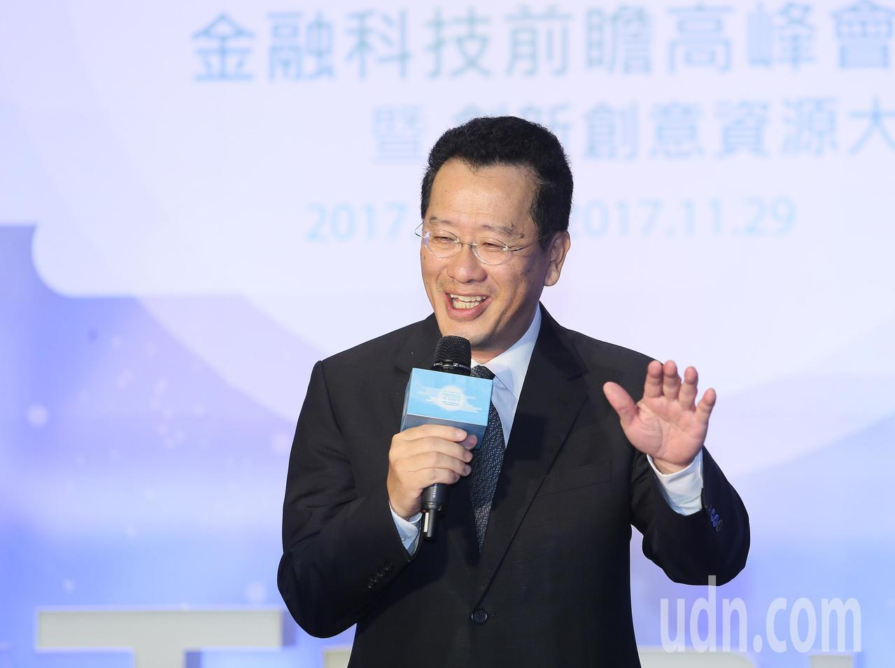 台灣金融研訓院上午舉辦金融科技前瞻高峰會,金管會主委顧立雄致詞表示,金管會將比照...