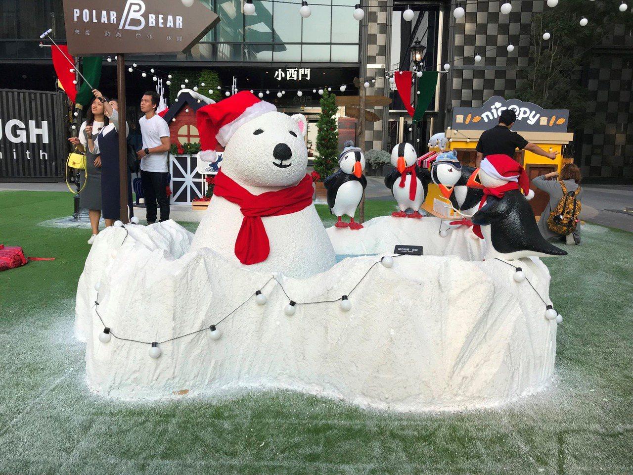 新光三越台南新天地夢想耶誕村「北極泡泡溫泉」。圖/新光三越提供