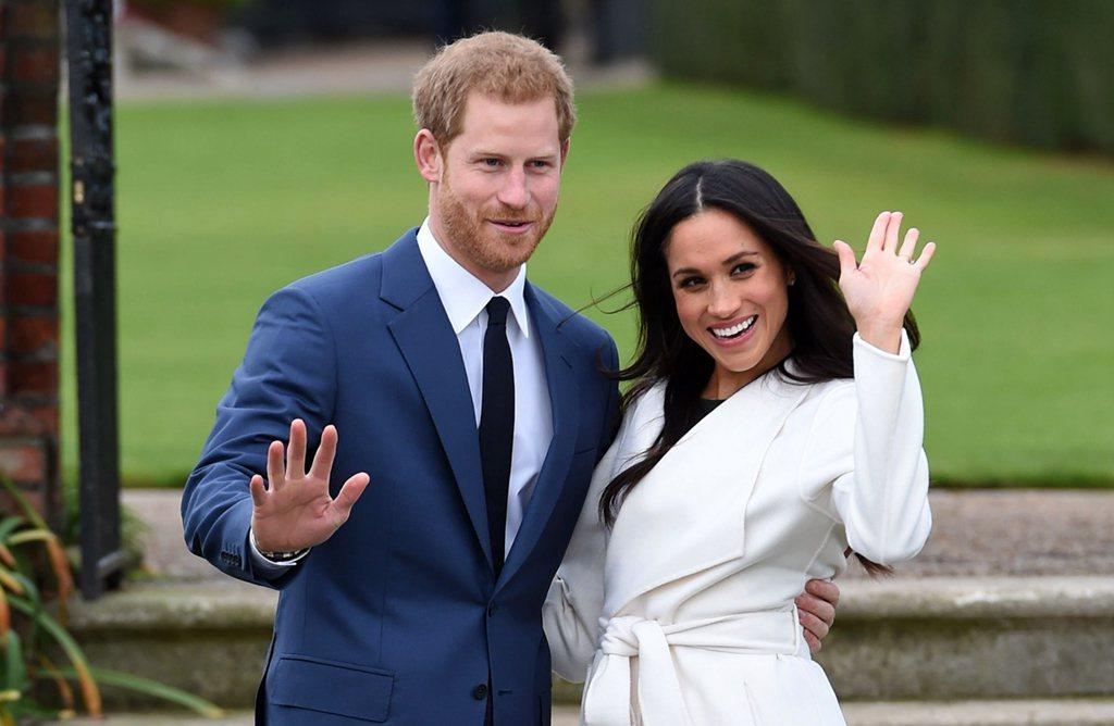 哈利王子2018年春天迎娶女友梅根馬克爾。美聯社