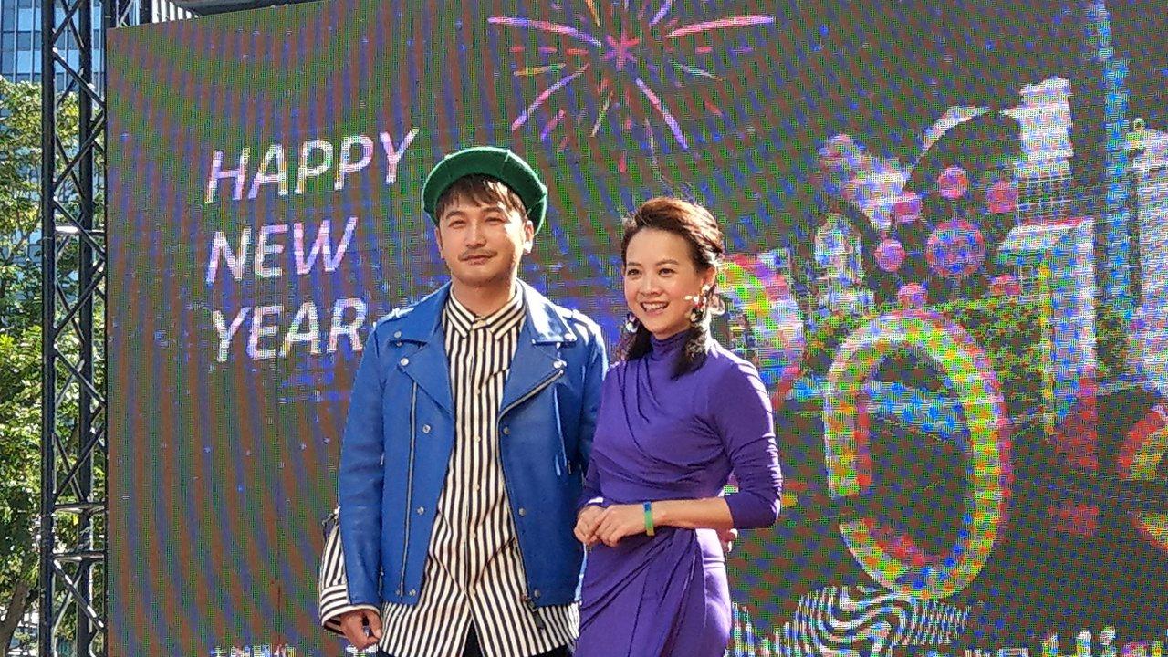 台北跨年晚會主持人將由曾寶儀和金鐘獎主持人KID(右)聯手搭擋。記者楊正海/攝影