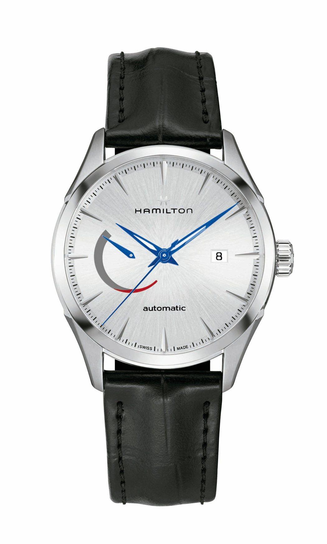 漢米爾頓Jazzmaster Power Reserve動力顯示系列腕表,銀色表...