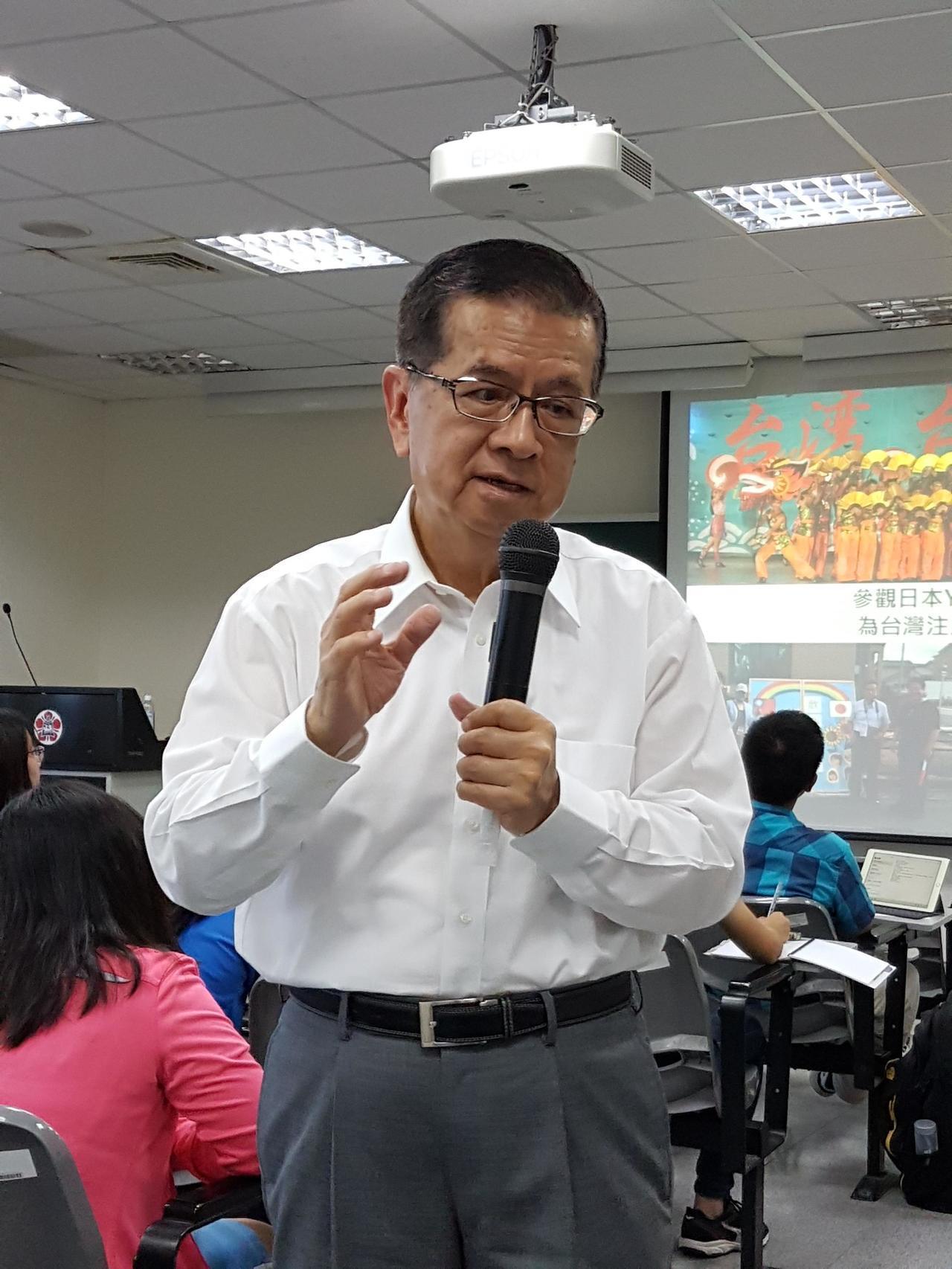 曾任統一超商董事長徐重仁下午到成大演講。記者修瑞瑩/攝影