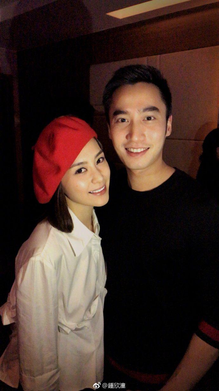 阿嬌與男友賴弘國。  圖/摘自微博