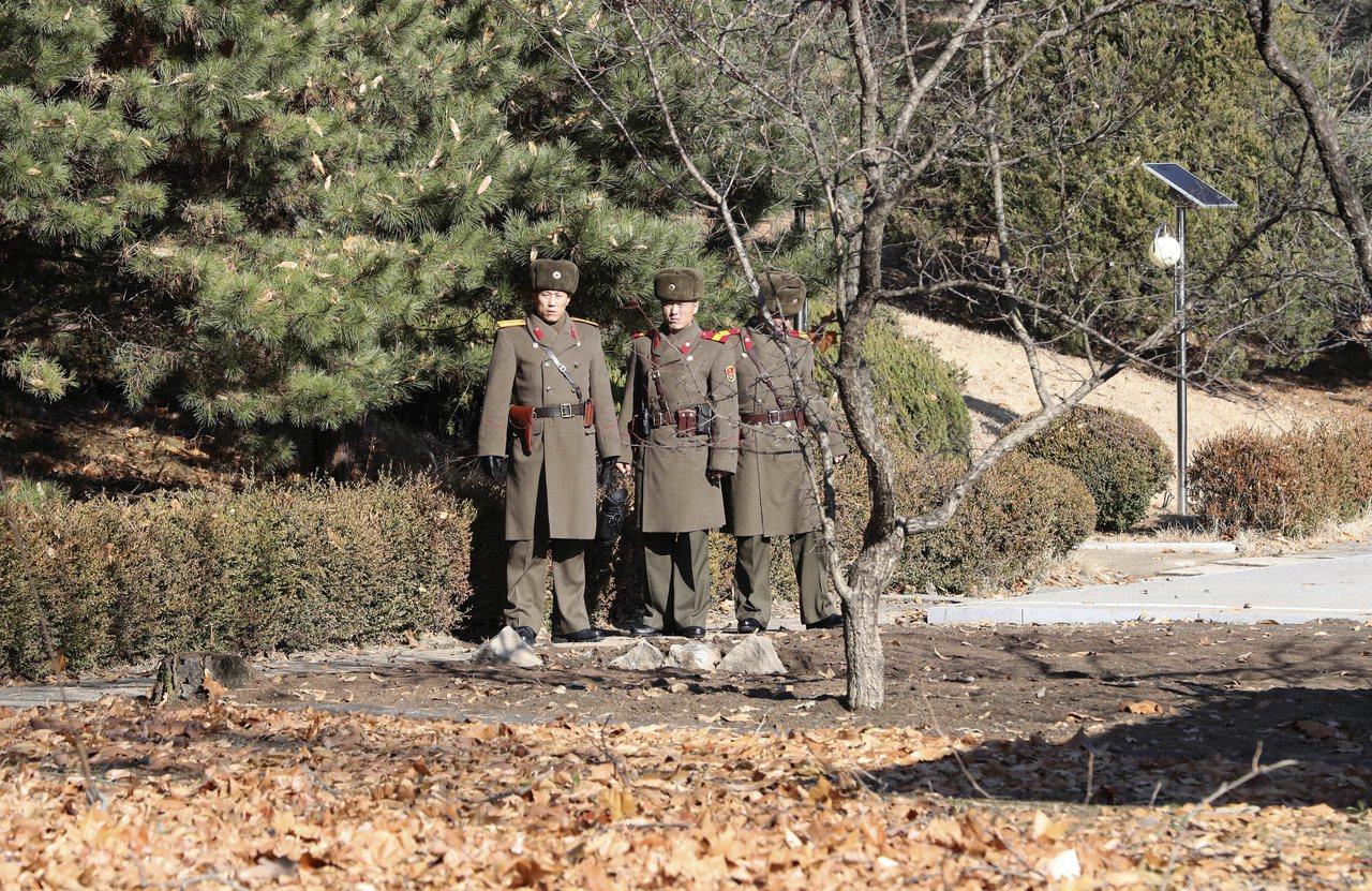 北韓士兵。美聯社