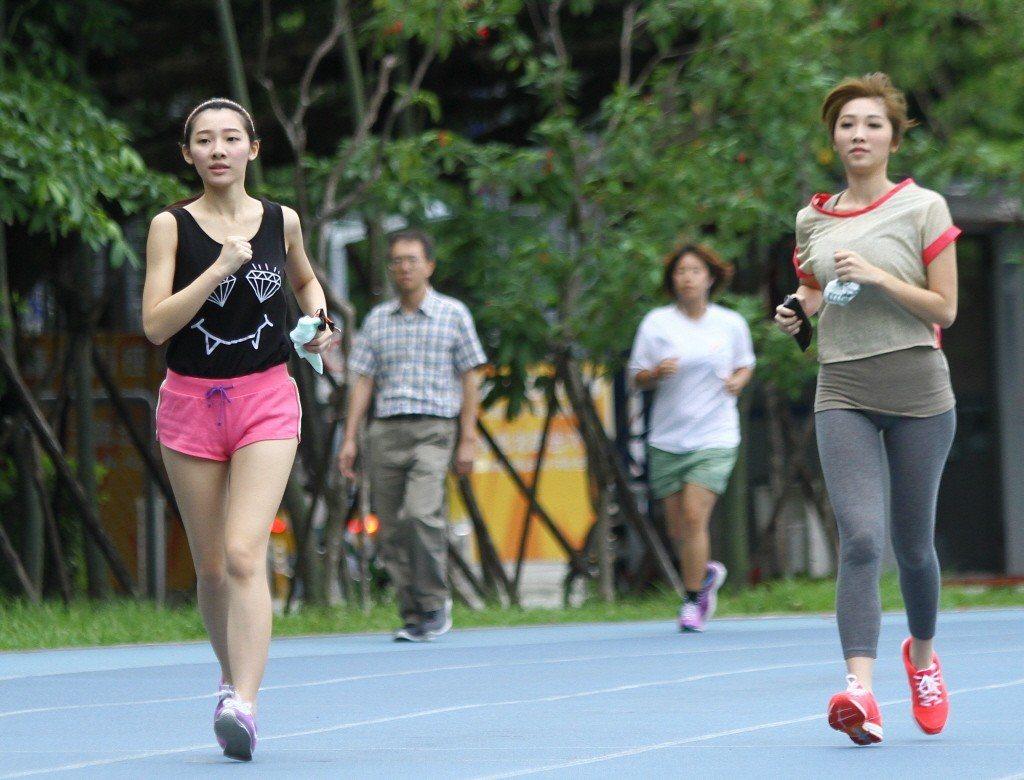 跑步。 本報系資料照/記者余承翰攝影