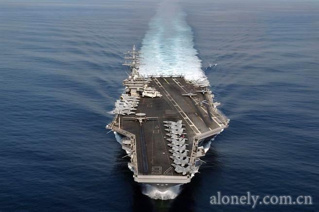 美國「雷根號」航艦。 圖/取自網路