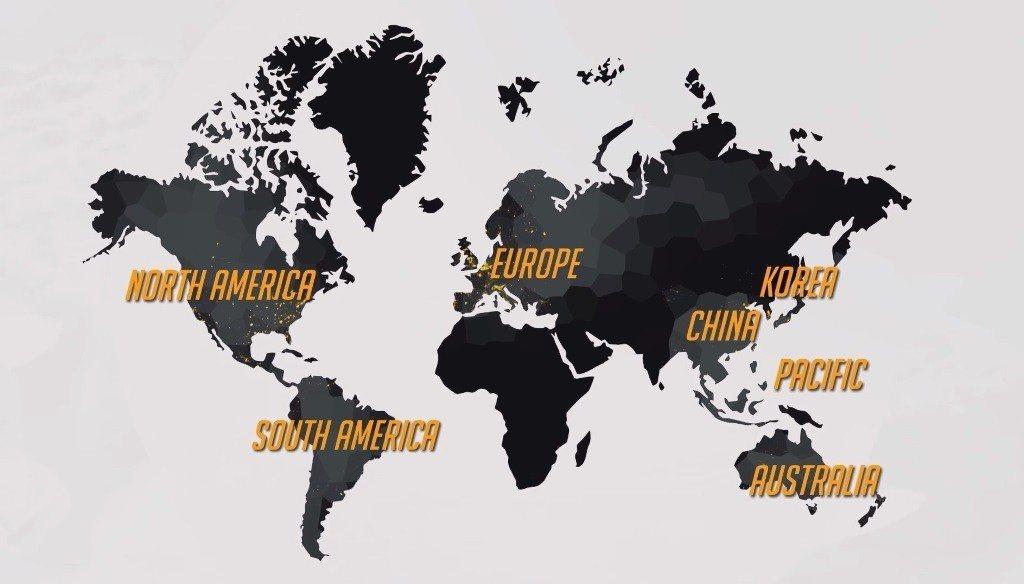 《鬥陣特攻》職業競技賽將大幅擴展規模至北美與歐洲外,共計將有七個區域舉行職業競技...