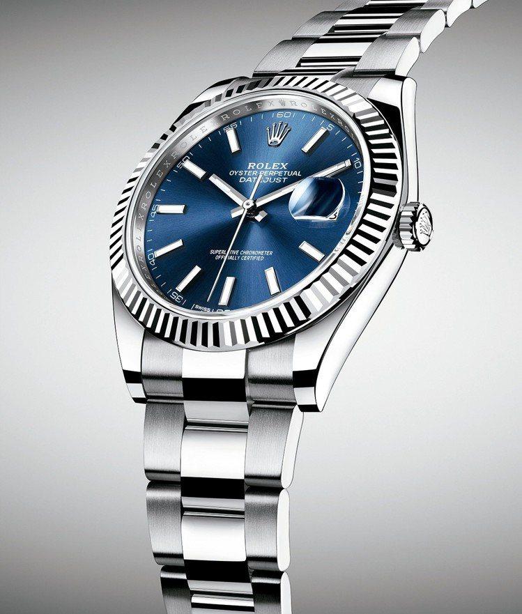 型號126334/直徑41毫米/白色黃金鋼錶殼/3235型機械機芯/動力儲備約7...