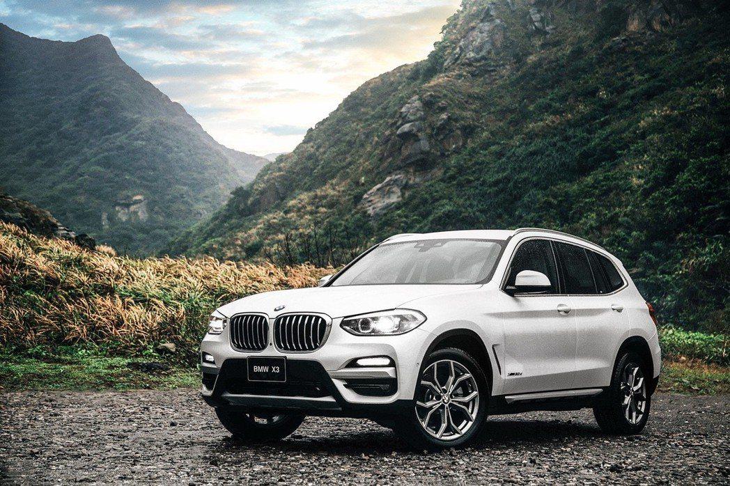 全新BMW X3 xDrive20d運動版。 圖/汎德提供