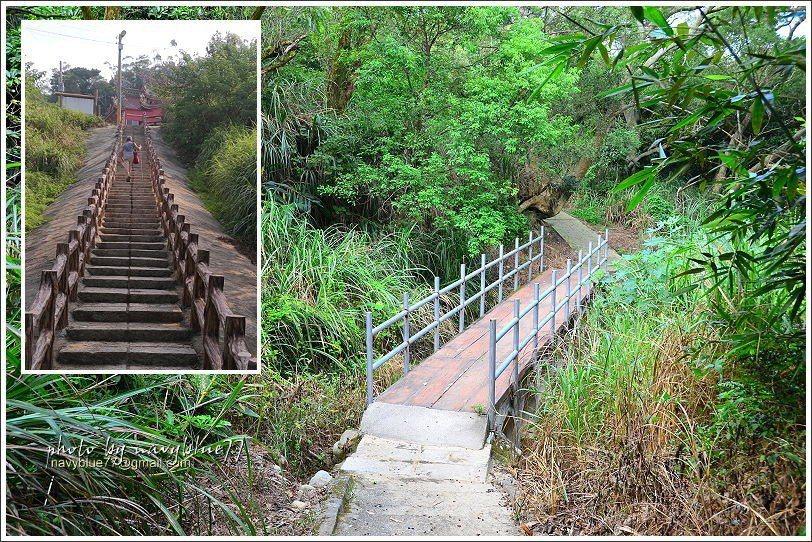 ↑蓮花寺步道由左上小圖往下,步道改為水泥小徑。