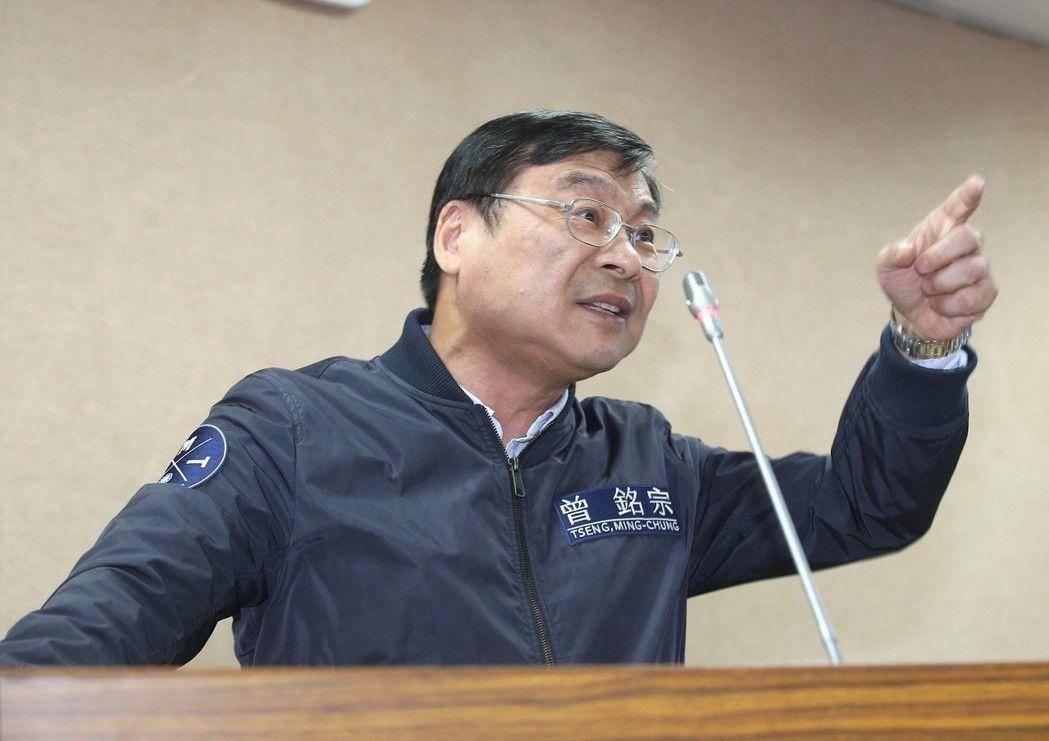 藍委曾銘宗批評馮世寬不孚眾望,不信可以作民調。記者高彬原/攝影