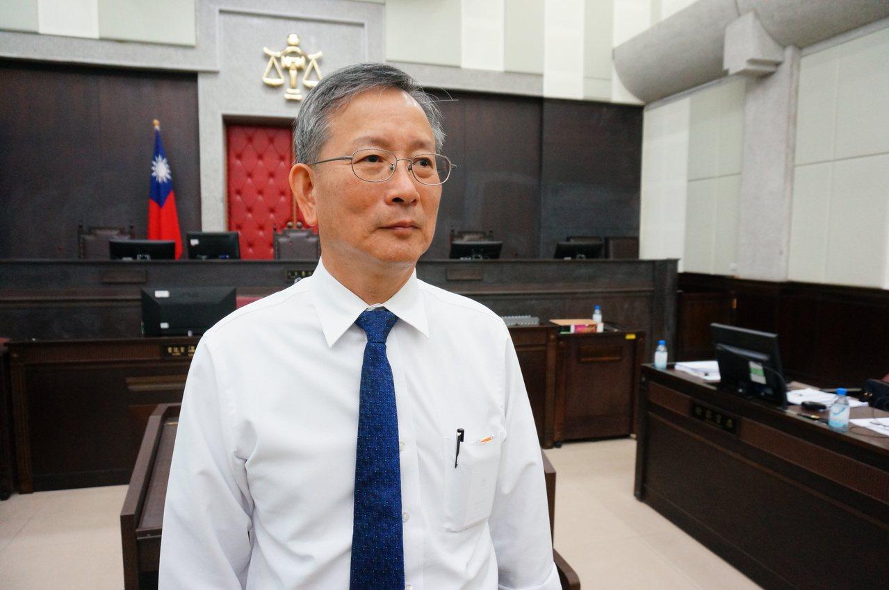 司法院秘書長呂太郎出席首場模擬法庭。記者林伯驊/攝影