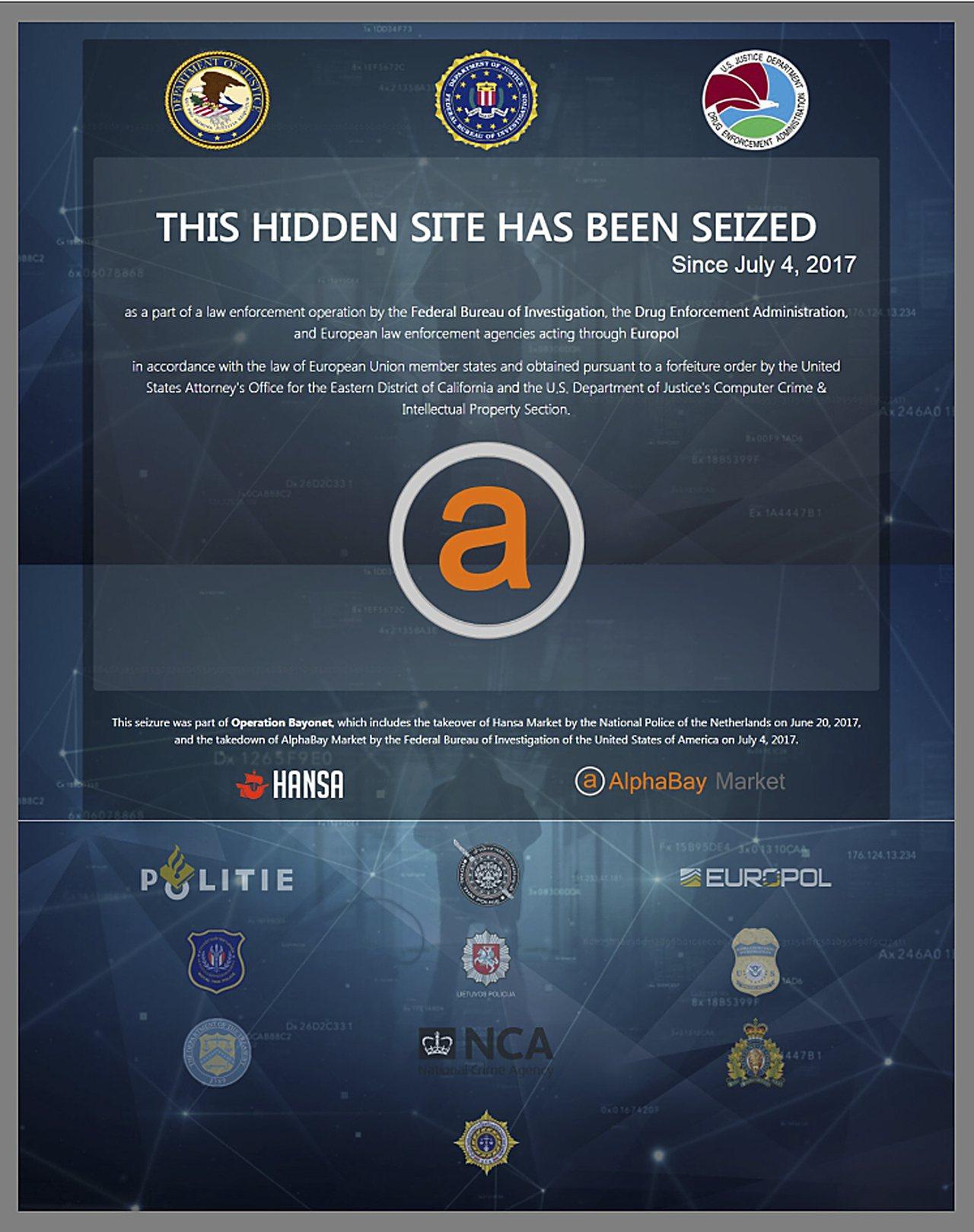 司法部長塞辛斯20日宣布,在網路販售毒品、仿冒品、武器和駭客用具等違禁品的隱蔽網...