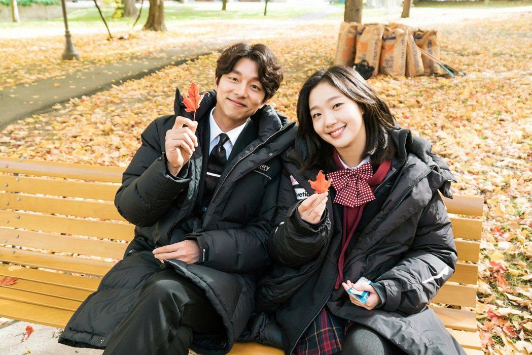 孔劉(左)與金高銀合作培養好感情。圖/台視提供