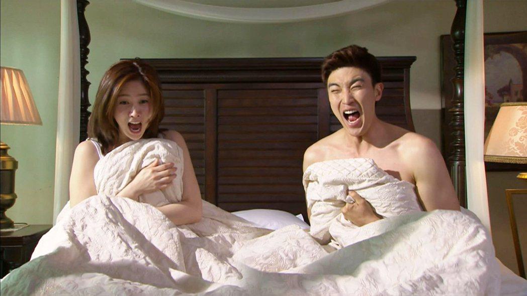 「像妳一樣的女兒」李水京(左)姜慶俊在劇中是對歡喜冤家。圖/東森戲劇台提供