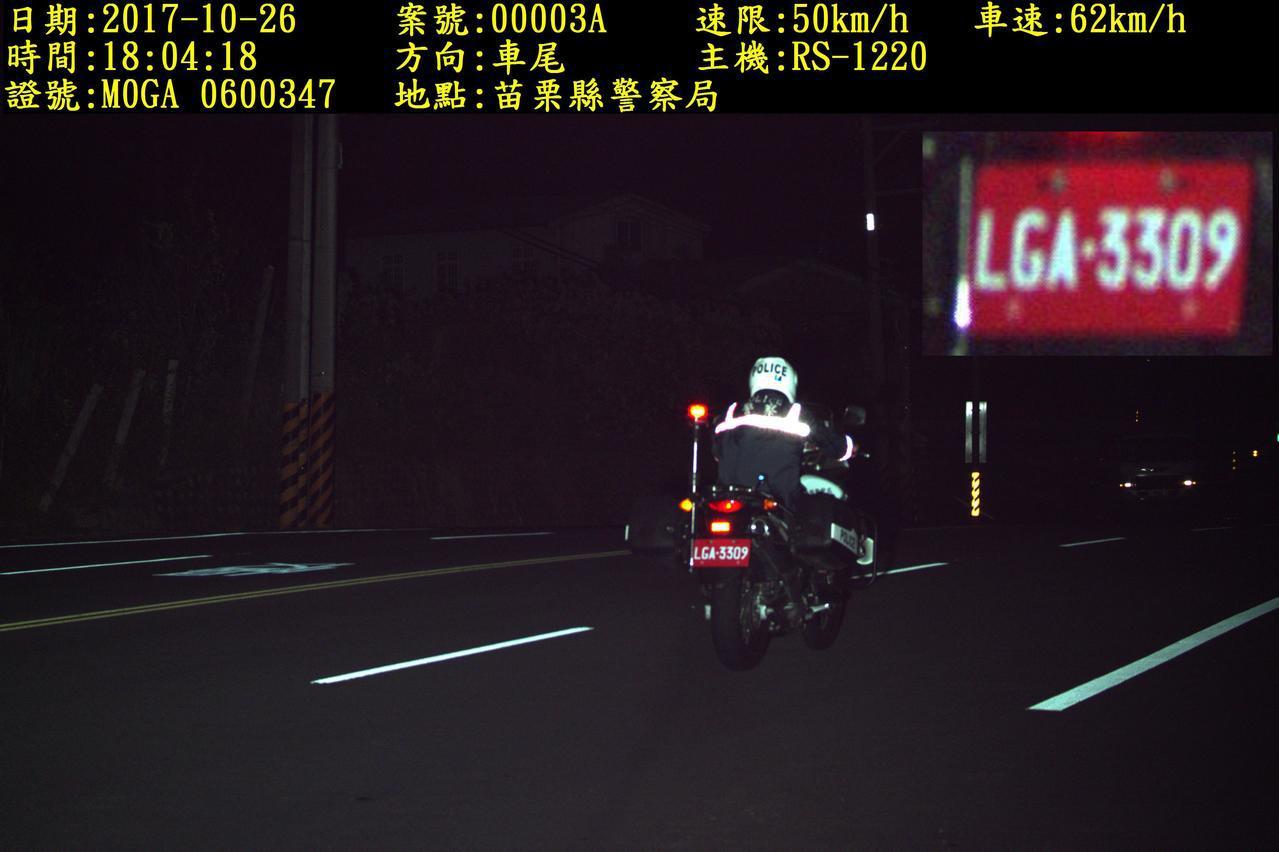 苗栗縣警局添購10套數位(機動/車載)雷達測速照相設備,拍攝的相片解析度與車牌辨...