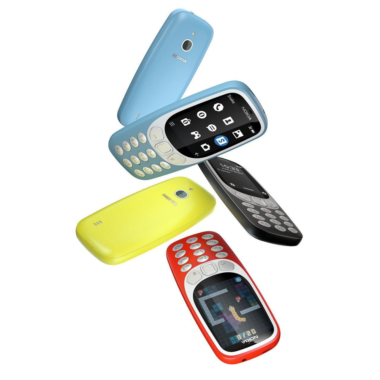 Nokia 3310 3G經典強勢回歸。圖/HMD Global提供