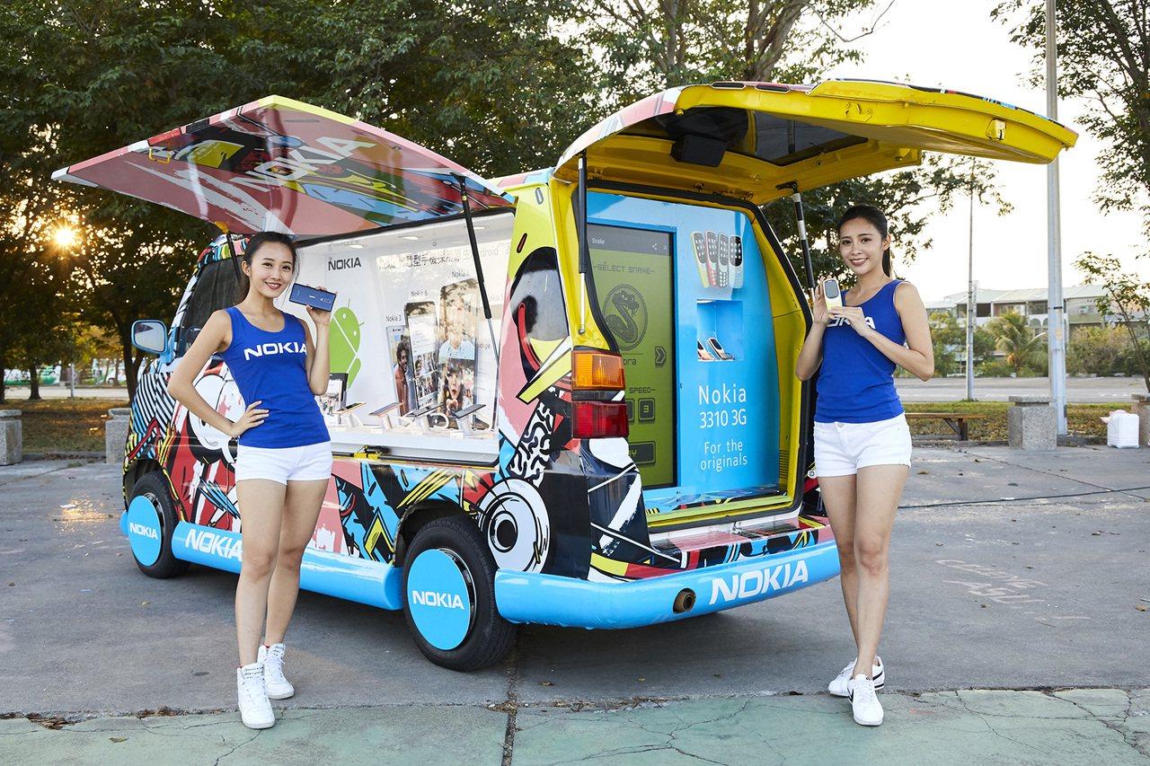 Nokia行動體驗車展示Nokia Android全系列智慧手機與Nokia 3...
