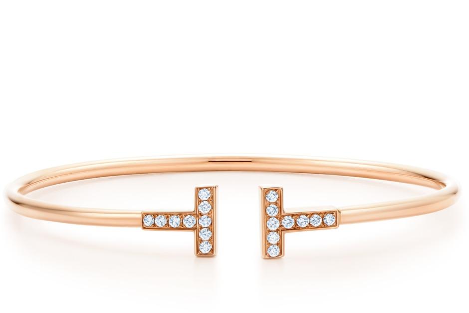 Tiffany T Wire 18K玫瑰金鑲鑽手環116,000.jpg
