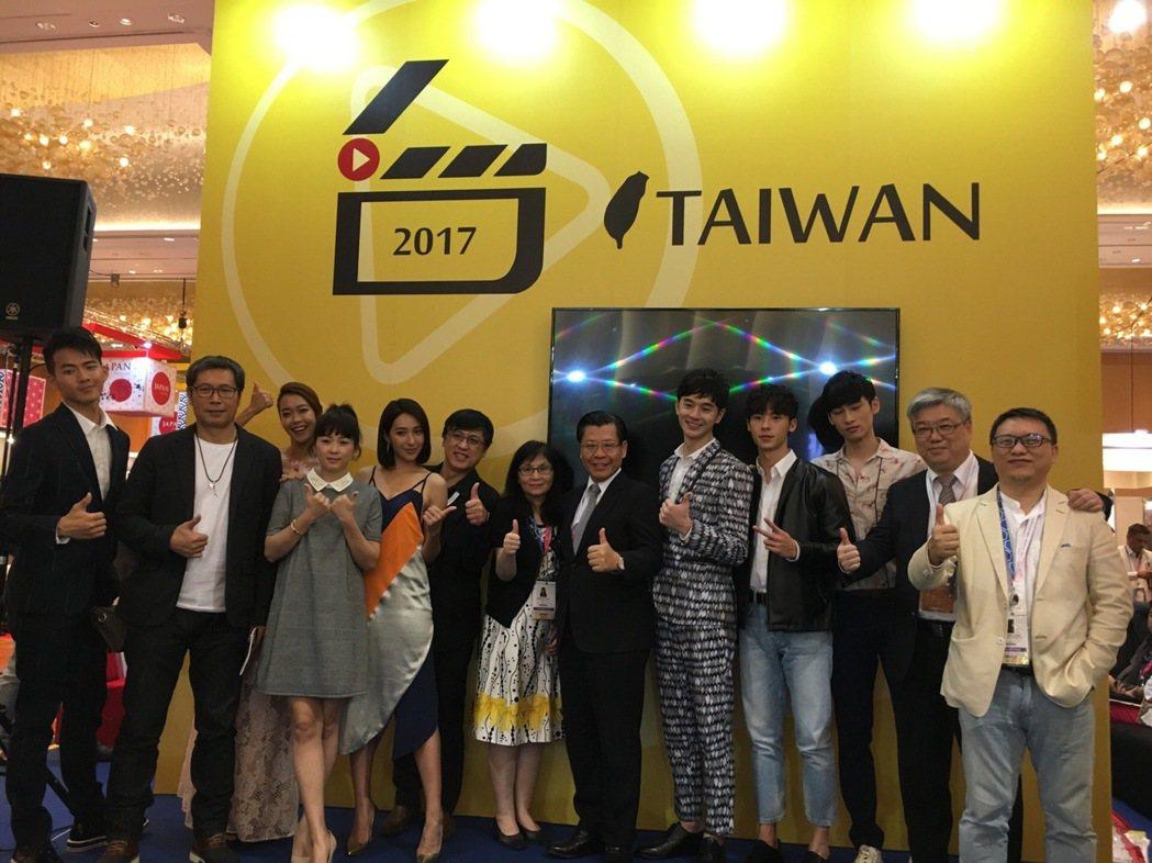 台灣文化部帶隊出席新加坡電視節。圖/文化部提供
