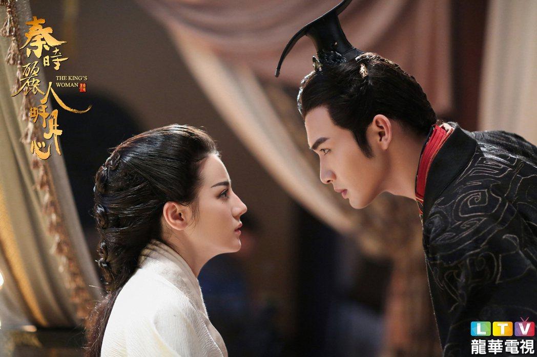 張彬彬(右)與迪麗熱巴主演「秦時麗人明月心」。圖/龍華電視提供