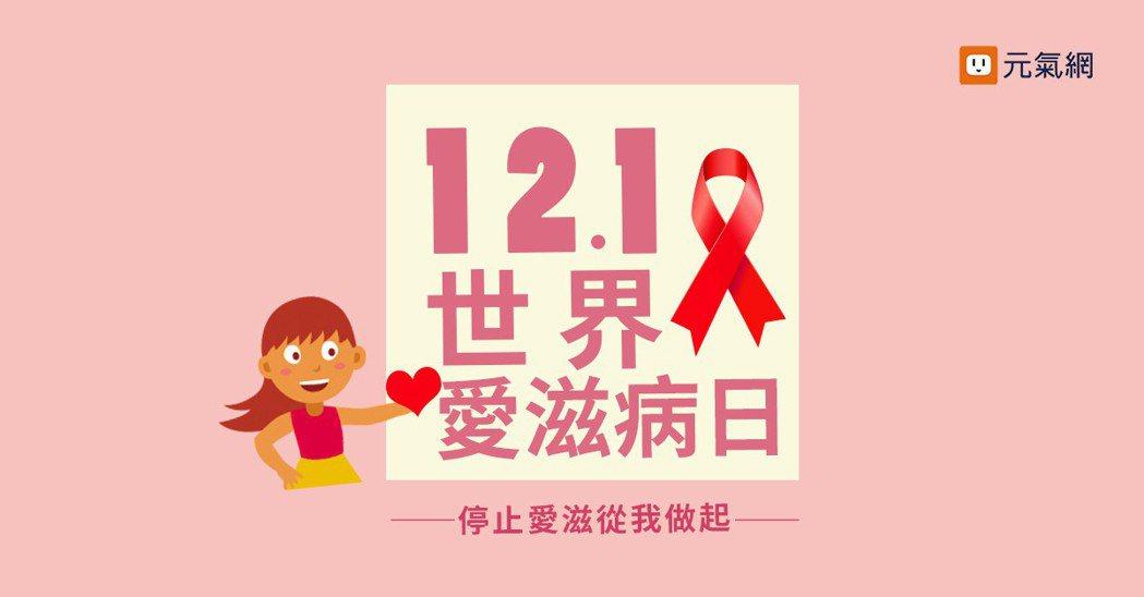 12月1日是世界愛滋病日。 製圖/黃琬淑