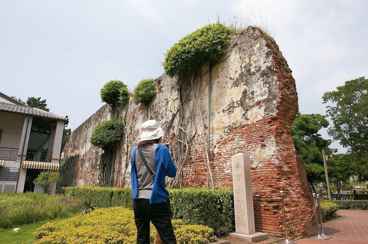 安平古堡園區內的台灣城殘蹟。