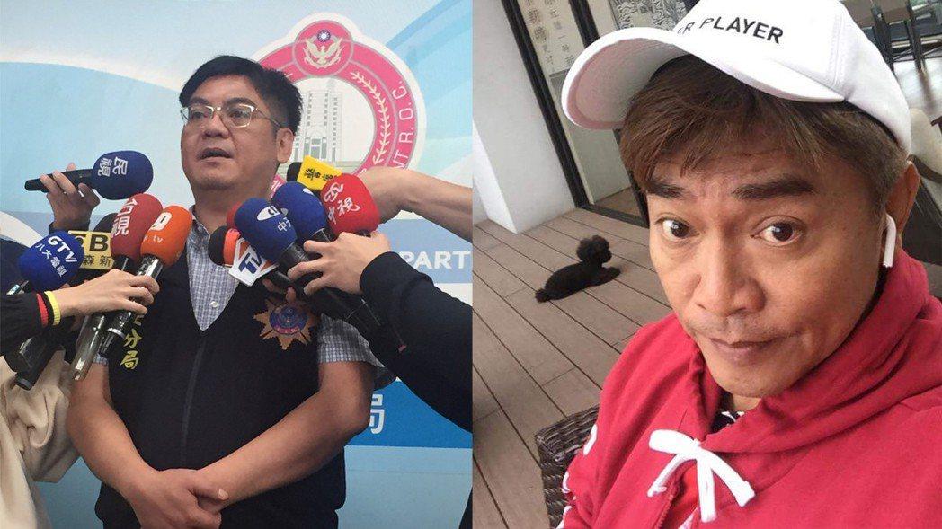 吳宗憲(右)10月曾對白雲感情事件發表評論,引發網友撻伐,他當時說要提告。有網友