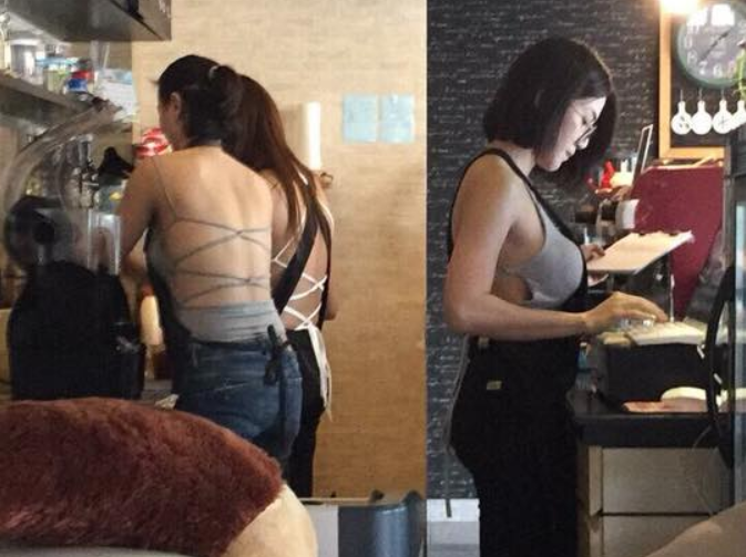有網友神出被訛傳的咖啡店,其實是泰國的「C罩杯」咖啡館。 圖/擷自kaijeaw