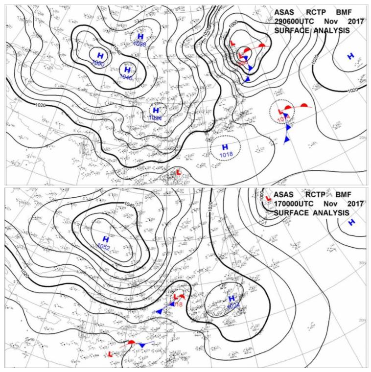 「高壓迴流型」的天氣型態。圖擷自莊秉潔教授臉書