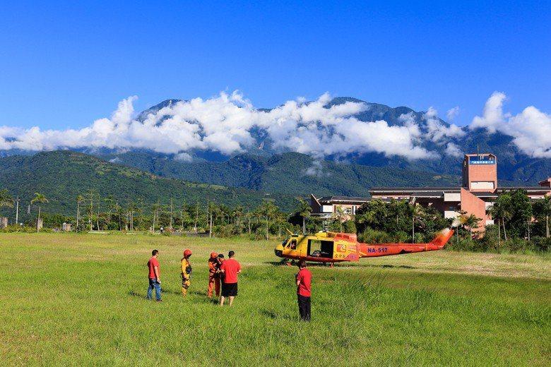 支援山搜的消防、特搜與空勤。 圖/雪羊自攝