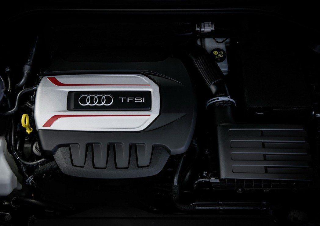 全新Audi S3的動力核心搭載全新2.0 TFSI高效率渦輪增壓引擎。 圖/台...
