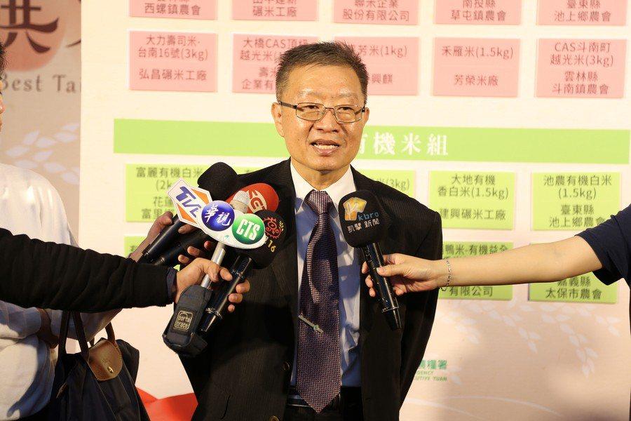 農糧署署長陳建斌出席2017精饌米獎第2階段入圍記者會,盼望這個獎項能夠鼓勵糧商...