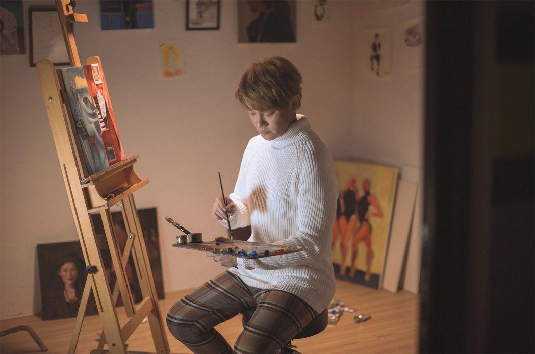 阿沁發行新專輯「畢卡索的謊言」。圖/夢幻仙境工作室提供
