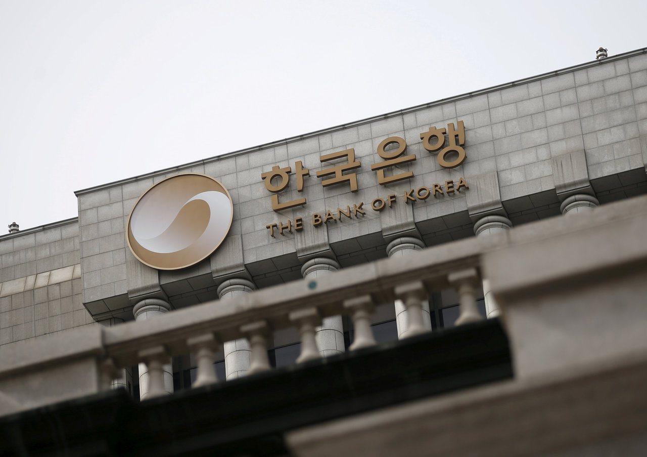 南韓央行30日決定升息,凸顯對經濟復甦和通膨的信心。(路透)