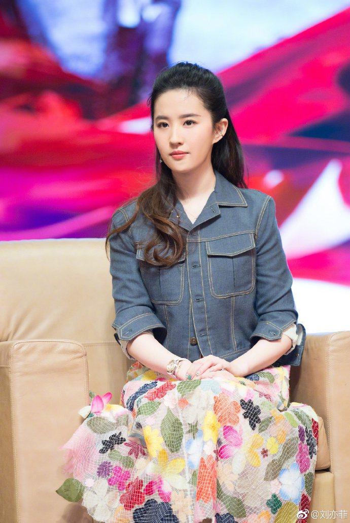 劉亦菲。圖/摘自微博