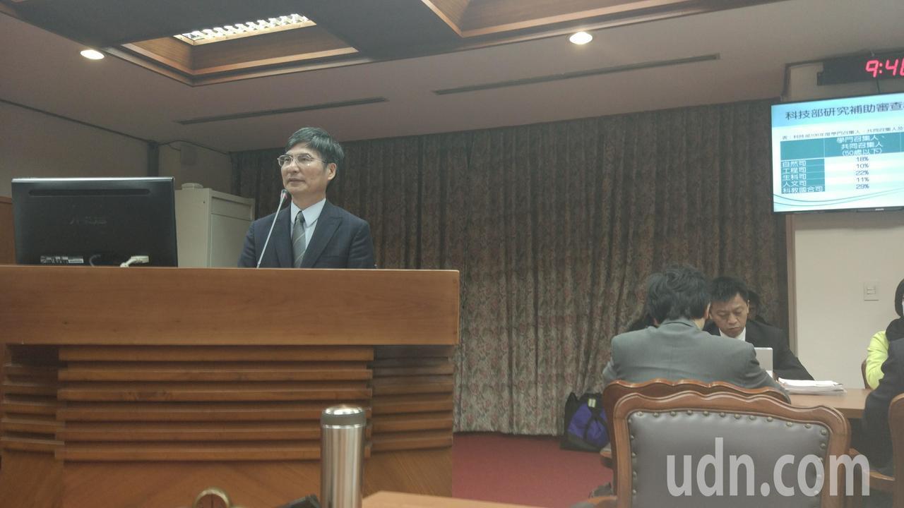 今天立法院教育及文化委員會邀請科技部長陳良基報告預算案。記者林良齊/攝影