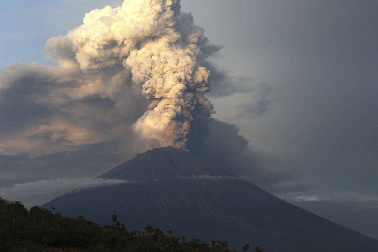 印尼峇里島阿貢火山。美聯社