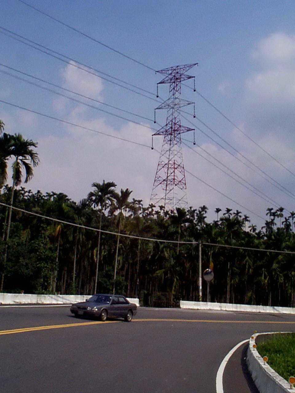 輸電鐵塔示意圖。聯合報系資料照